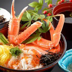 Snow Crab Rice Bowl with Nagisa Soup: Price varies according to season