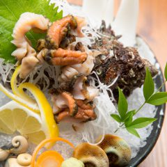 Turban Shell Sashimi of 2 Shells: ¥1,300