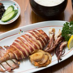 Grilled Squid Meal: ¥1,200