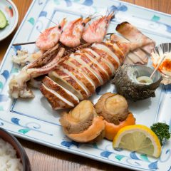 Grilled Seafood Meal: ¥2,400