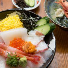 Seafood Rice Bowl with Nagisa Soup: ¥3,200