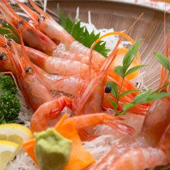 Deep-Water Shrimp Sashimi: from ¥1,600