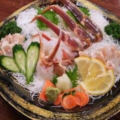 Echizen Snow Crab Sashimi Medium size, 1 crab: from ¥16,200